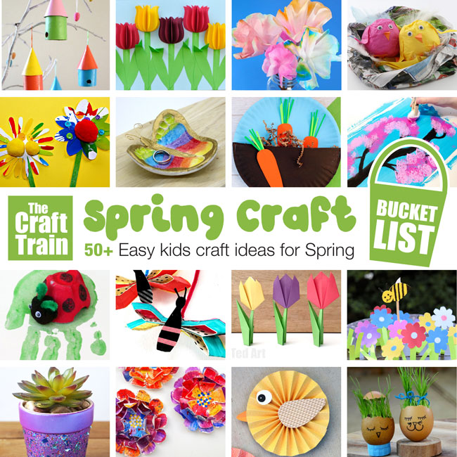 Spring Crafts For Kids The Craft Train