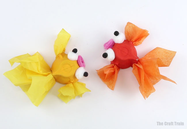 How to make an egg carton goldfish - process-5