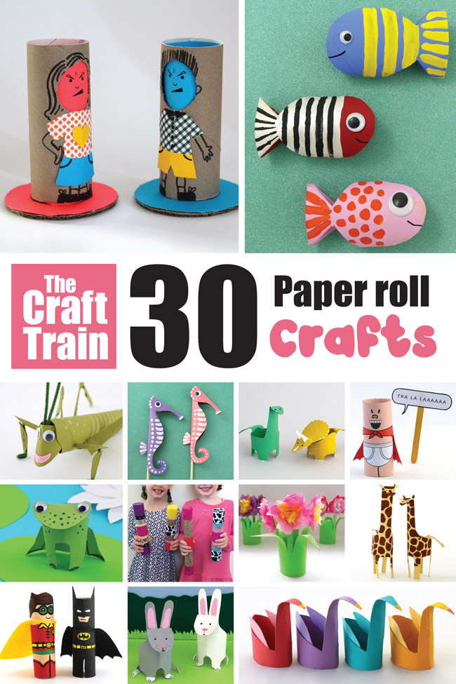 Paper roll craft ideas for kids. Tons of creative, fun ideas for things to make form cardboard tubes. From animals, to DIY toys, to well loved characters – we have it all and more! #toiletpaperrolls #paperrolls #cardboardtubes #recycling #repurposing #kidscrafts #animalcrafts #kidsactivities