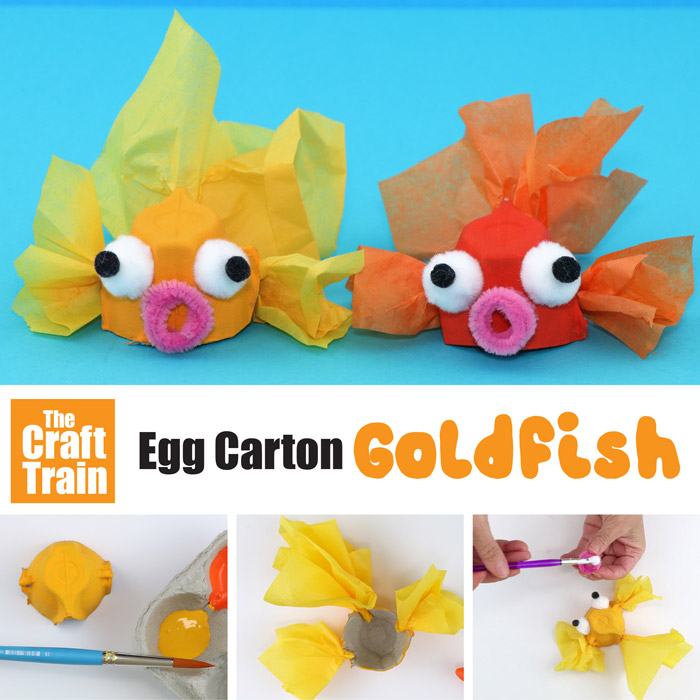 cute and easy goldfish craft for kids