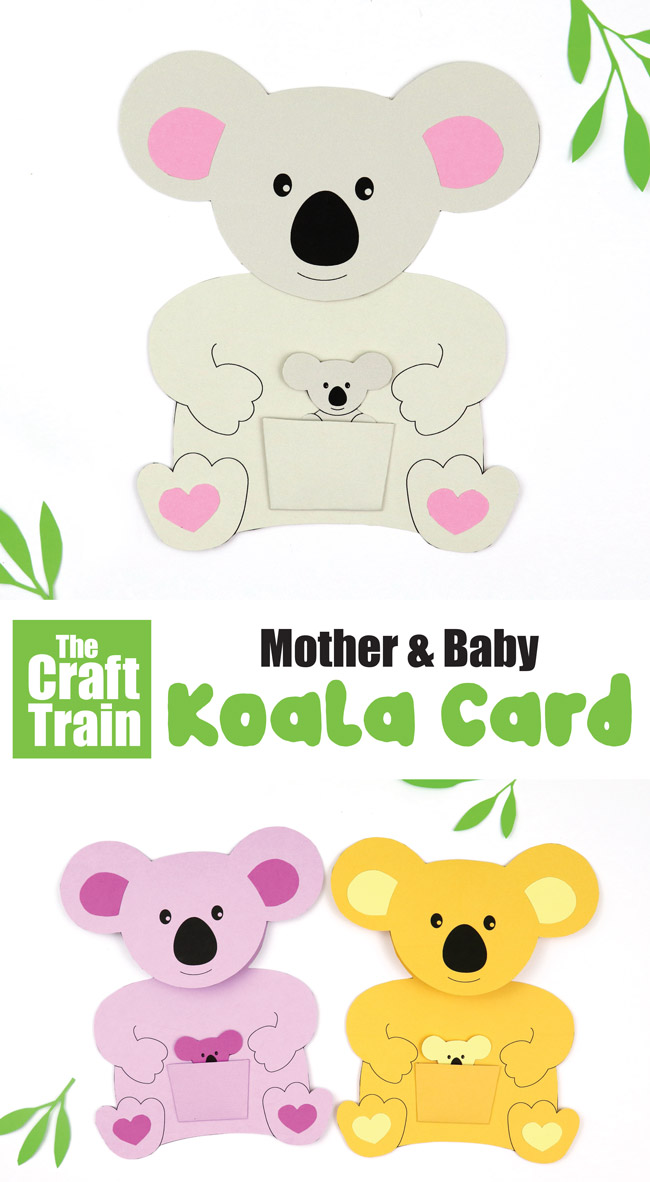mother & baby koala card | The Craft Train