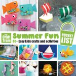 Summer fun bucket list for kids. *0+ crafts and activities to keep kids busy over the Summer months #summerbucketlist #kidscrafts #kidsactivities #summer #summercrafts #play #thecrafttrain