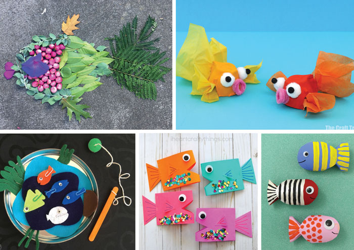 Fish crafts and activities for kids #summerbucketlist #kidscrafts #kidsactivities #summer #summercrafts #play #thecrafttrain