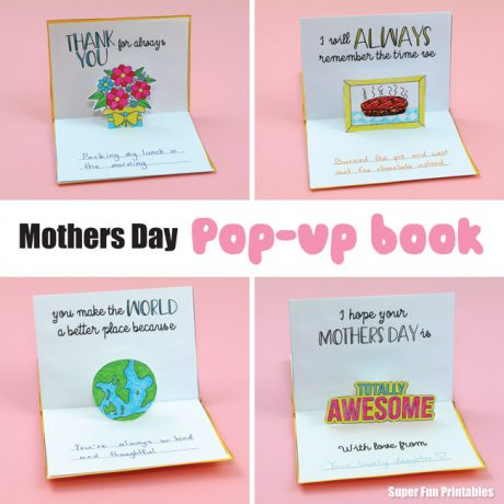 Mothers Day pop up book printable kids can make #mothersday #popup #kidscards