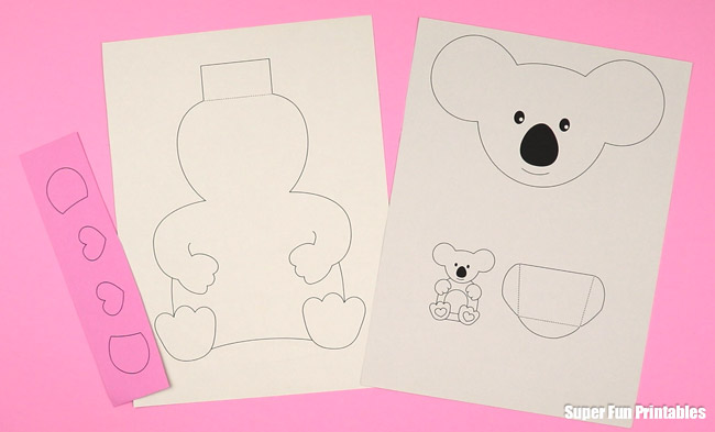 koala card printable steps