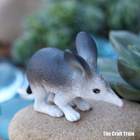 Bilby in the Australian animal succulent garden we made #succulents #succulentgarden #smallworld #gardeningwithkids #australiananimals #gardening #kidsactivities
