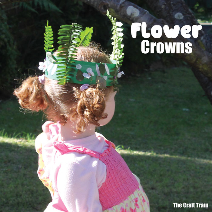 Flower crown craft idea for kids