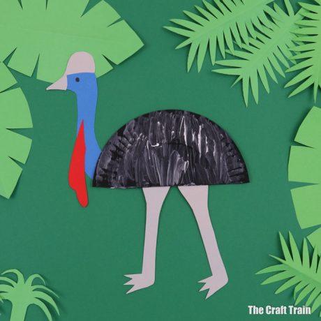 paper plate cassowary