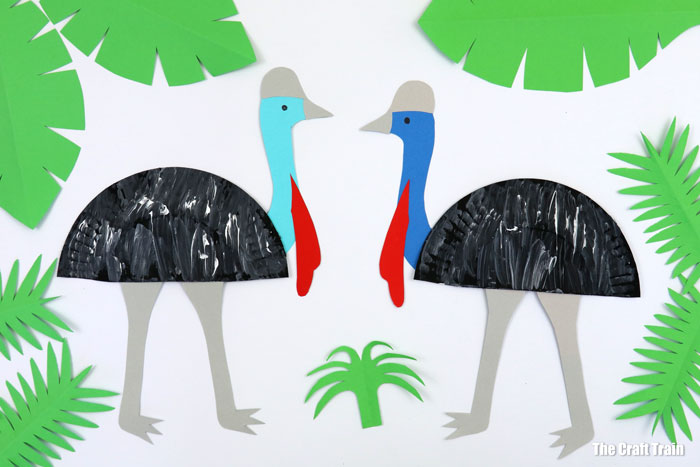 Cassowary craft idea for kids