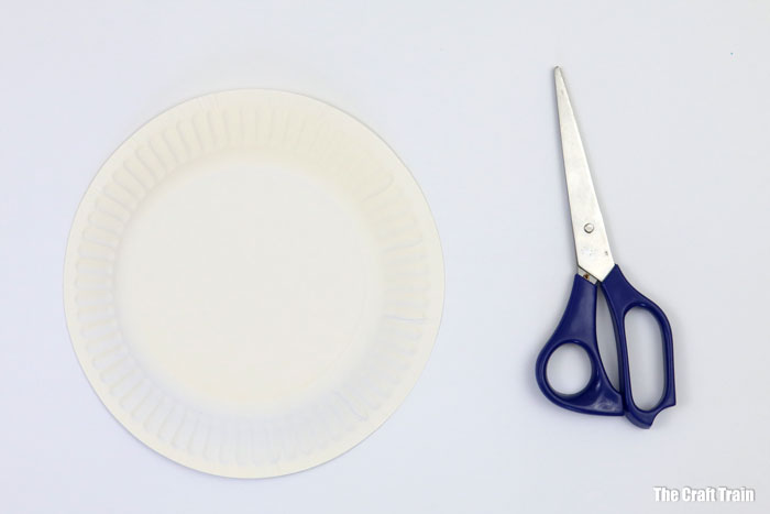 cut the paper plate in half
