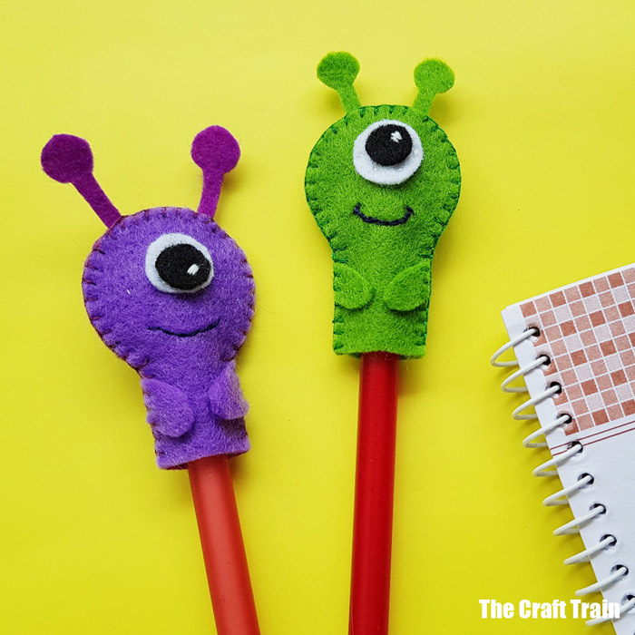 Pencil topper monster craft