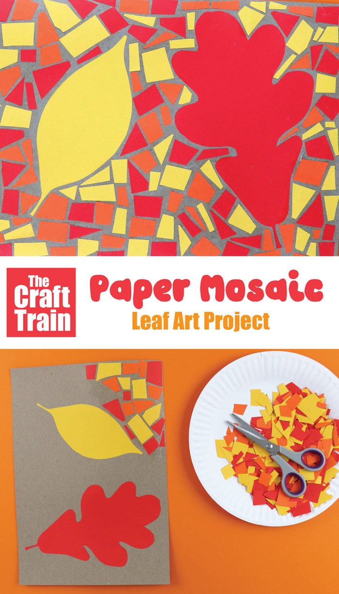 Paper Mosaic Autumn Art Project The Craft Train
