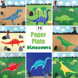 12 paper plate dinosaur crafts for kids