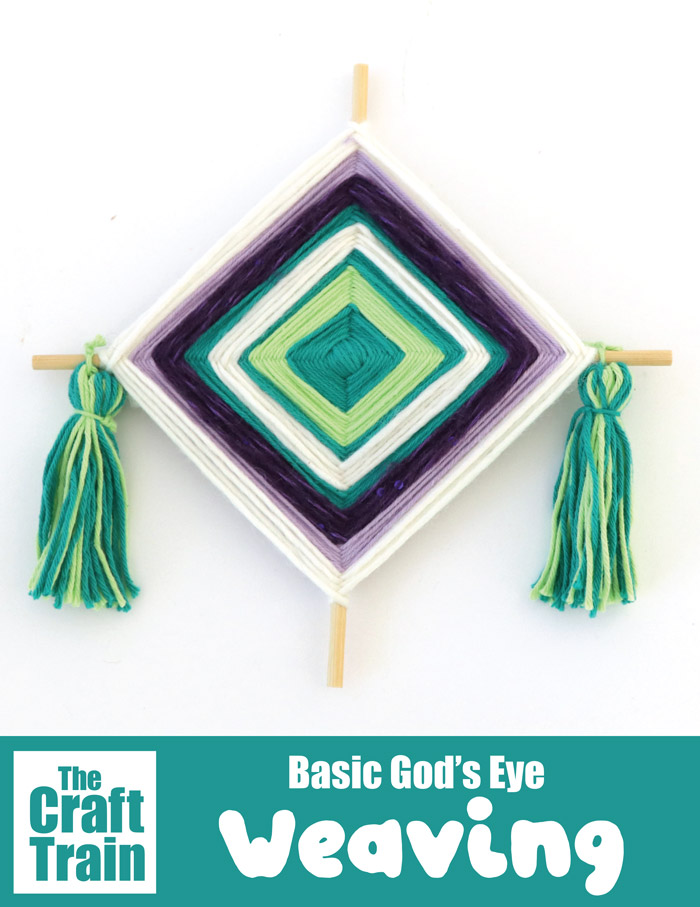God's Eye yarn craft weaving craft for kids #weaving #yarn #godseye #easycrafts #kidscrafts #kidsactivities