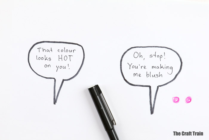 comic leaf art steps 4 - Make speech bubbles
