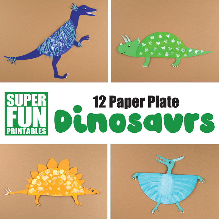 12 Paper Plate Dinosaur Crafts For Kids The Craft Train