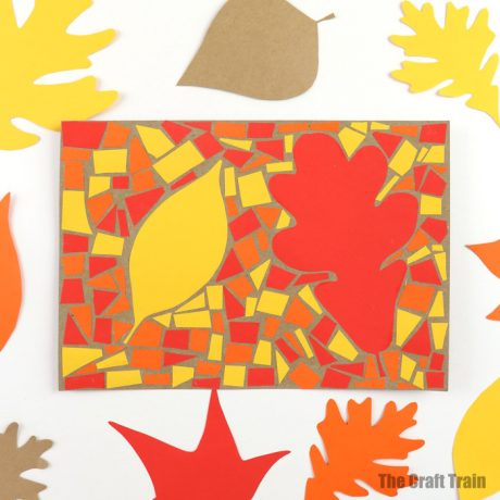 Easy Autumn art idea for kids – make a paper mosaic