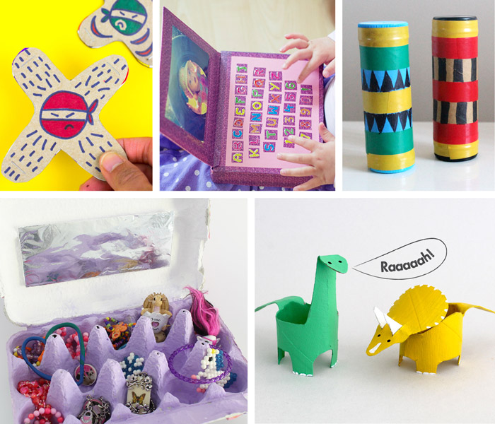 easy cardboard toys kids can make to inspire play