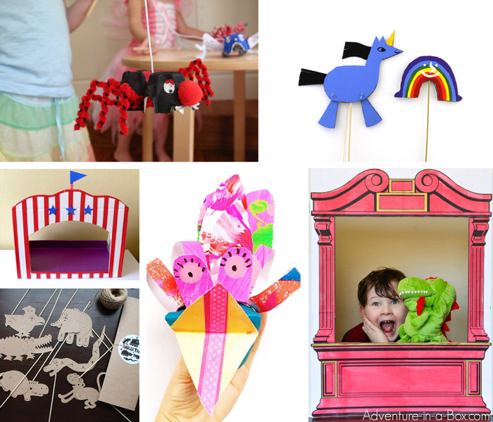 Cardboard puppets and theatres you can make at home