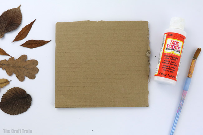 materials you will need to make pressed leaf art
