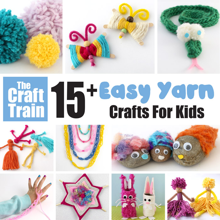 Easy yarn crafts for kids, over 15 creative and fun crafts!
