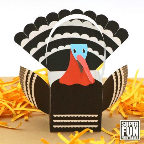 Turkey basket craft for kids