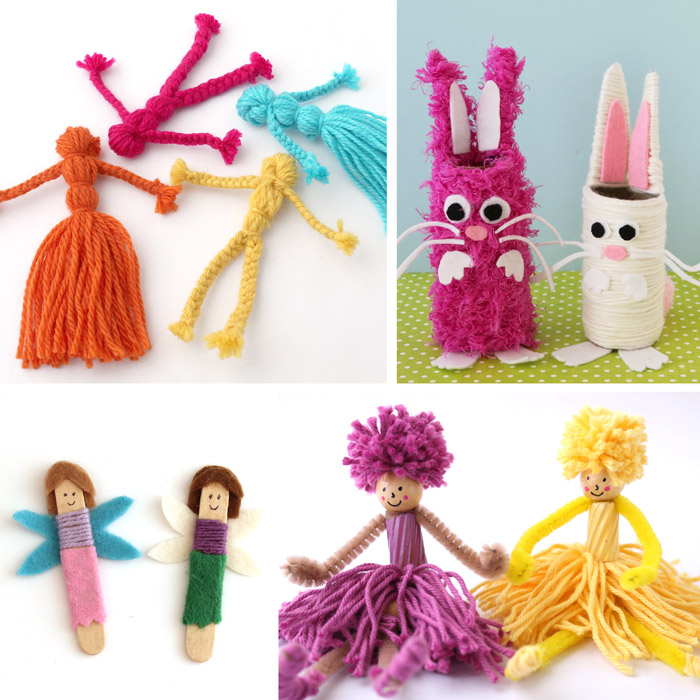 yarn doll ideas for kids