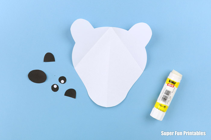 polar bear portrait craft instructions