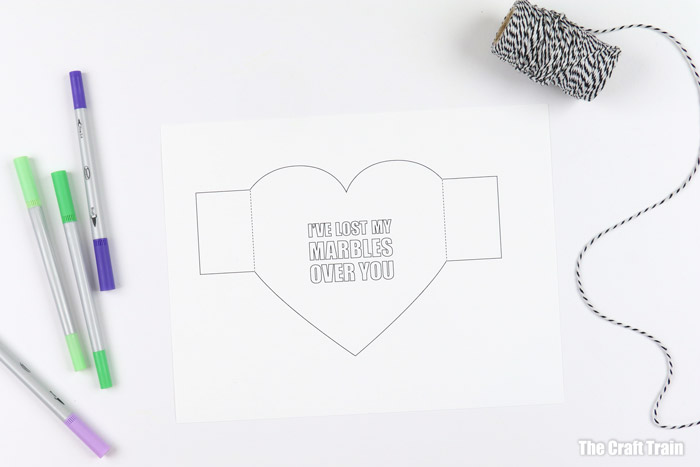 printable heart template to colour for Valentines day