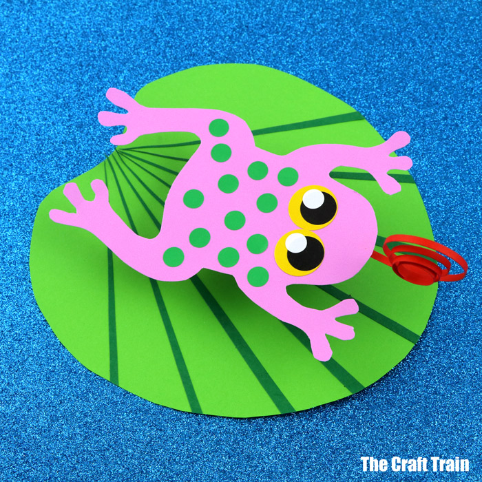 Frog on a Lily Pad paper craft