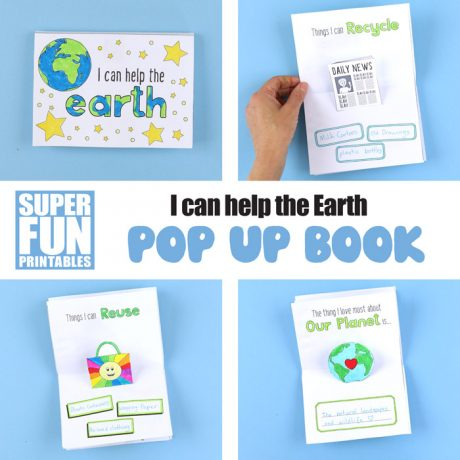 I can help the earth pop up book activity for kids