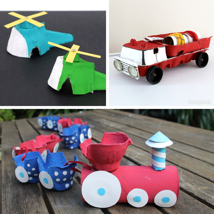 egg carton vehicle crafts