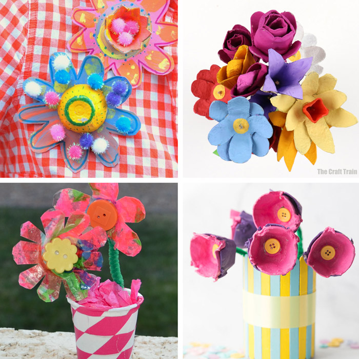 egg carton flower crafts ideas