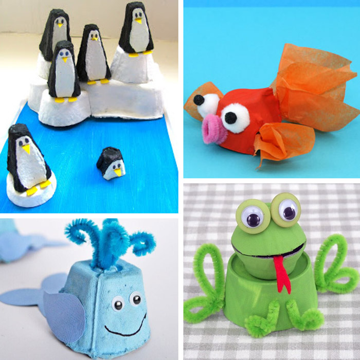 egg carton animal crafts for kids