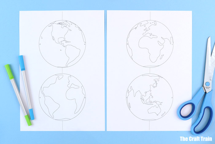 planet earth craft printable activity for kids