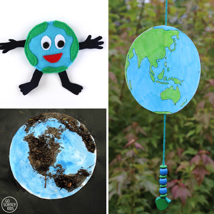 earth day sewing craft, earth paper spinner, earth dirt craft