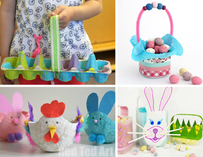 recycled easter basket crafts