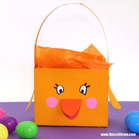 Cute chick Easter basket for kids