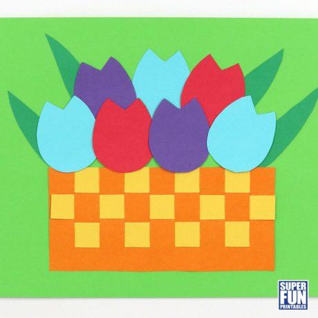 Paper tulip craft for kids