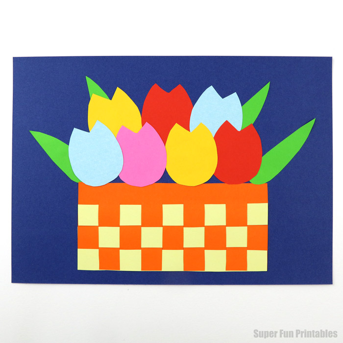paper tulip craft for kids with printable template