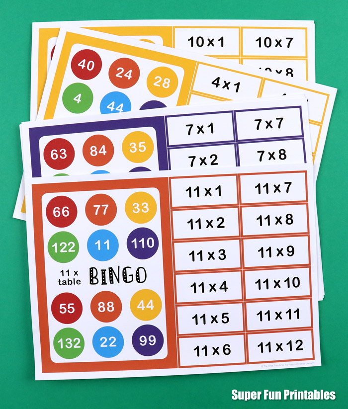 This is a graphic of Printable Multiplication Bingo with activity