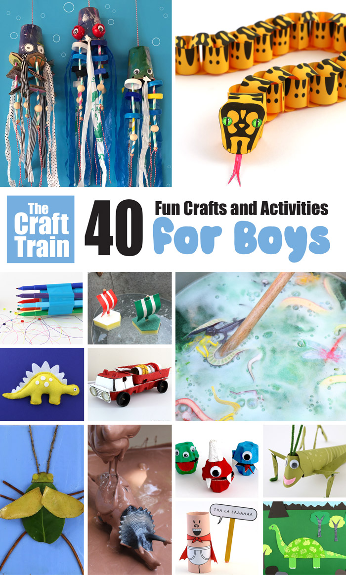 40 awesome crafts for boys