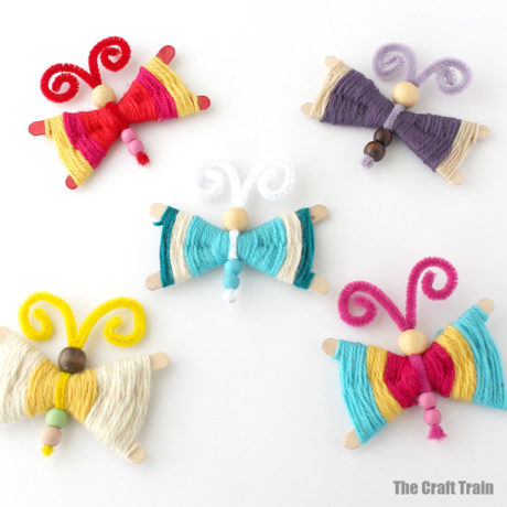 Yarn butterfly craft