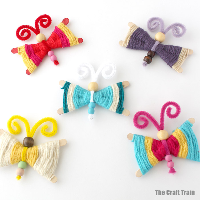 Yarn butterfly craft | The Craft Train