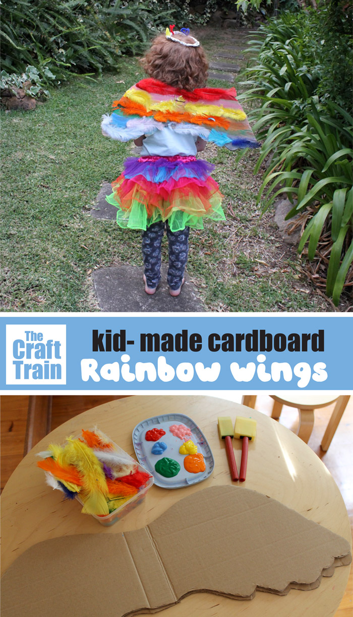 cardboard wings craft for kids – make a beautiful pair of cardboard wings for imaginative play
