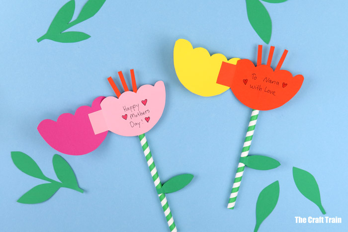 easy mothers day card idea for kids - paper flower cards