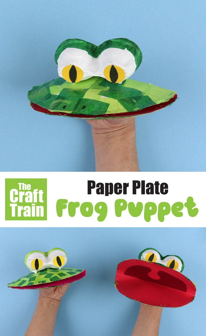 How to make a frog puppet from a paper plate