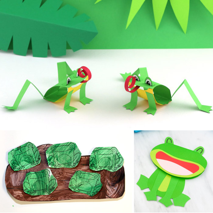 frog paper crafts for kids