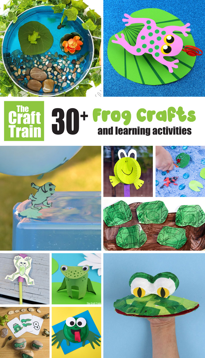 over 30 fun frog crafts and activities kids will love. Cute crafts, educational activities STEM learning ideas, frog printables, DIY frog toys and more...