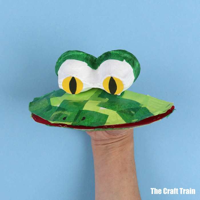 cute paper frog puppet